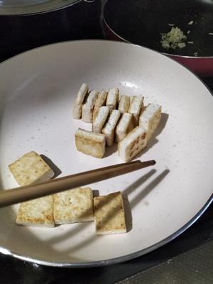 島豆腐を焼く